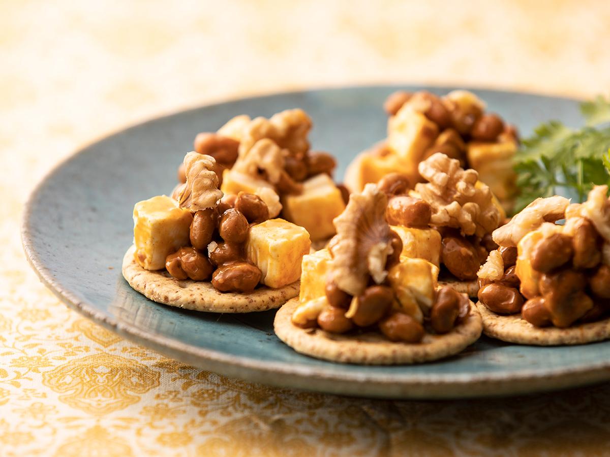 納豆とクリームチーズのおつまみ